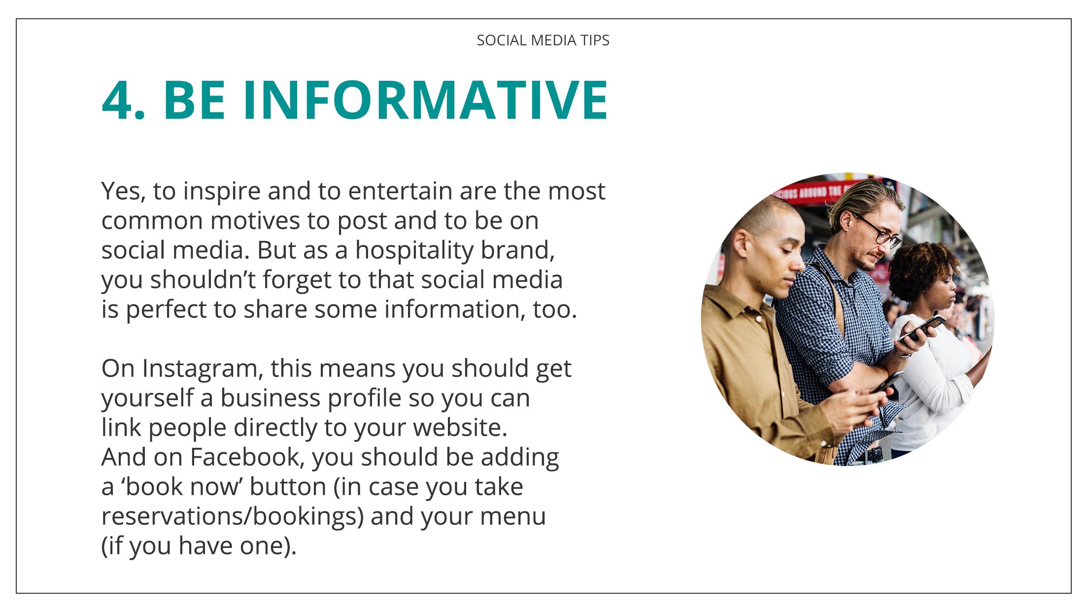 Social Media Tips Tremento for Hospitality - 4