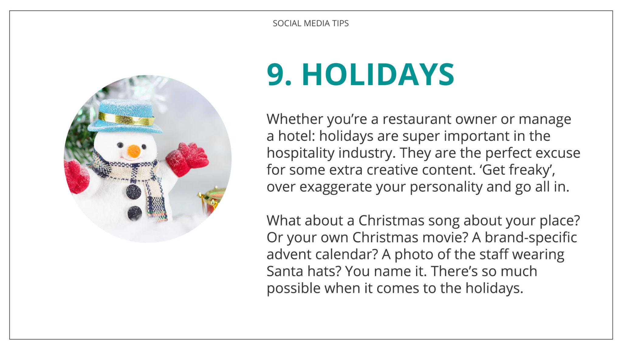 Social Media Tips Tremento for Hospitality 9