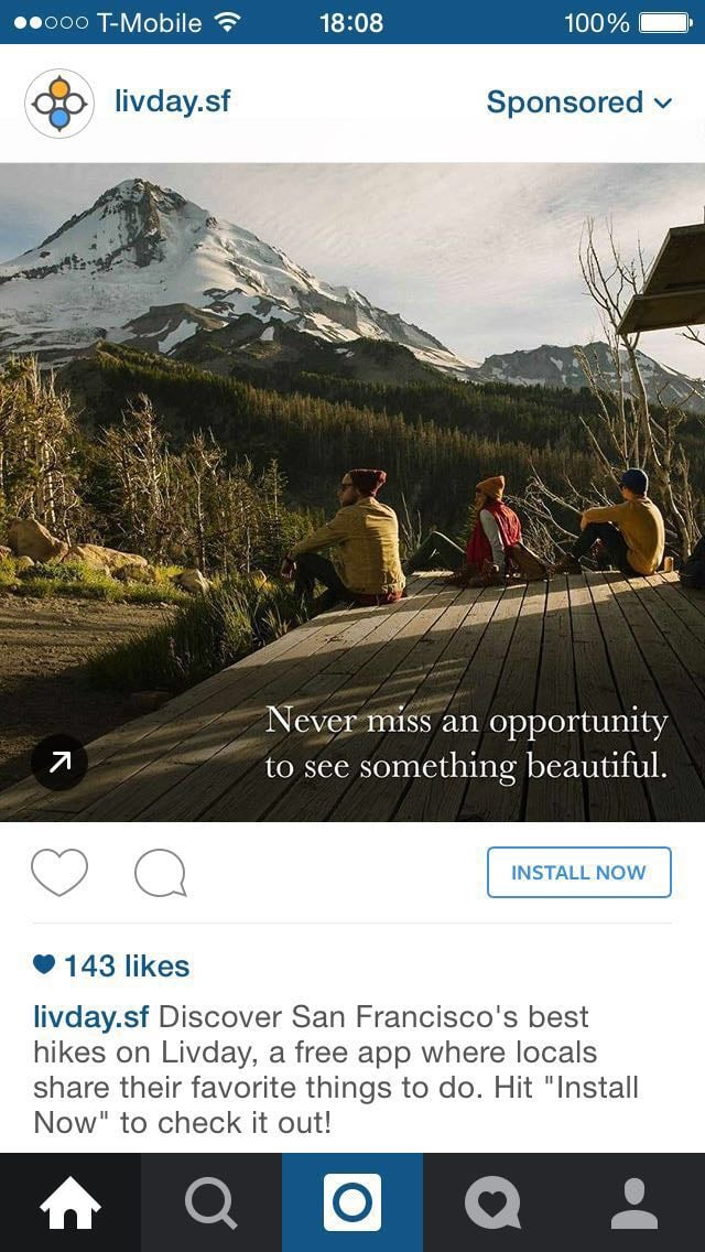 Instagram Ads Hospitality