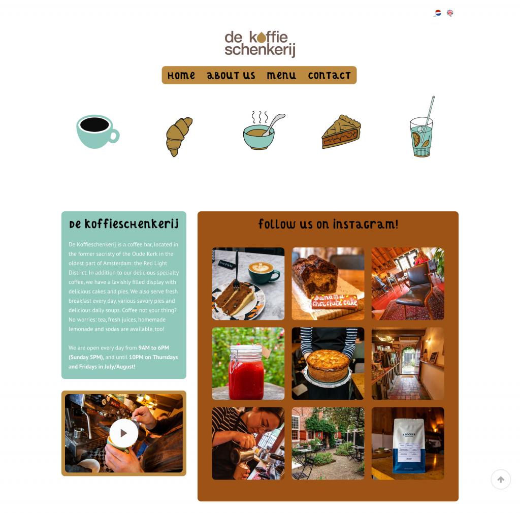Webdesign Koffieschenkerij Café