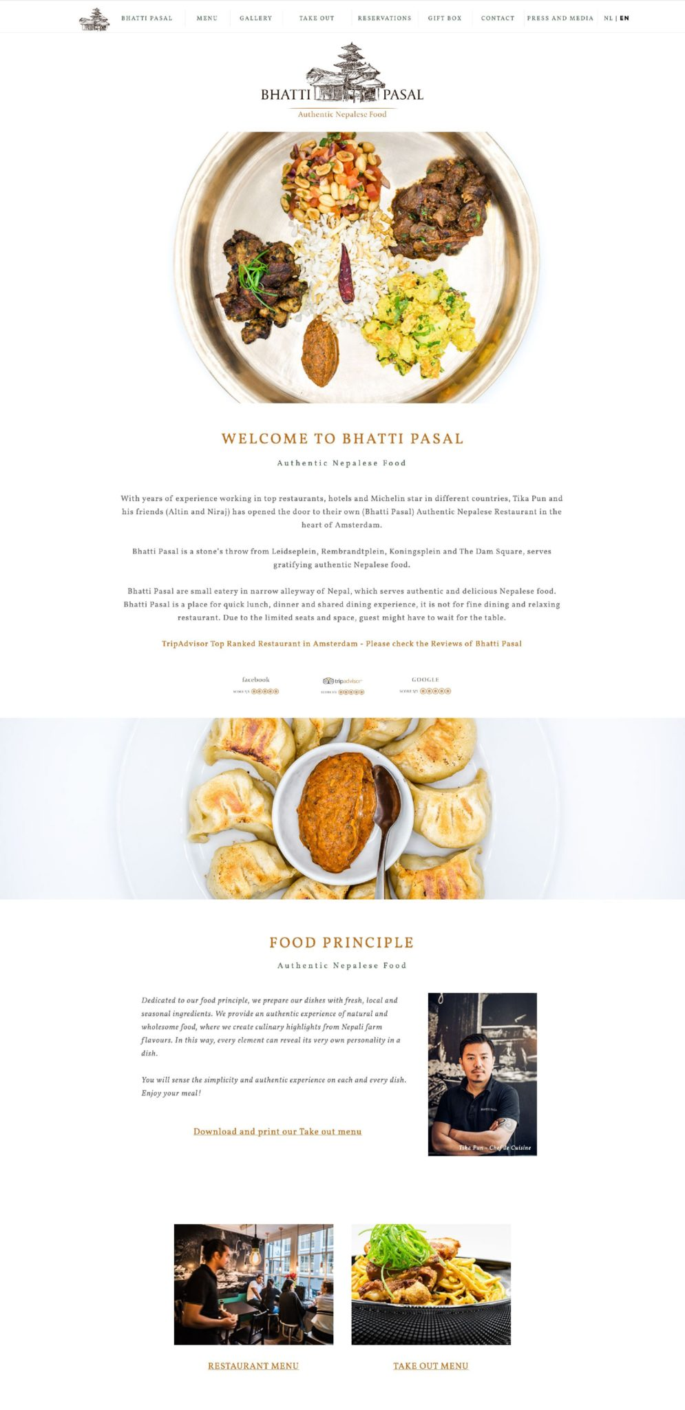 Bhatti Pasal Restaurant Amsterdam Webdesign Idea July 2020