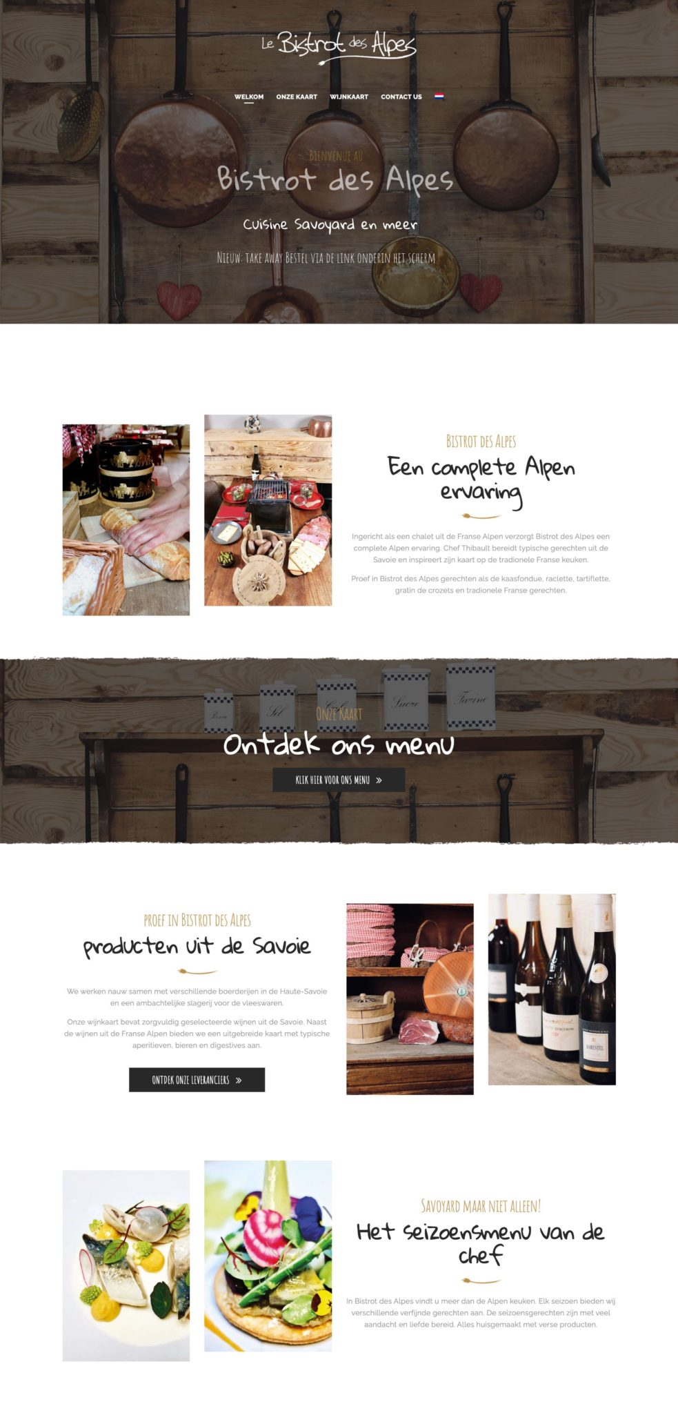 Bistrot des Alpes Restaurant Website Design Idea 2020