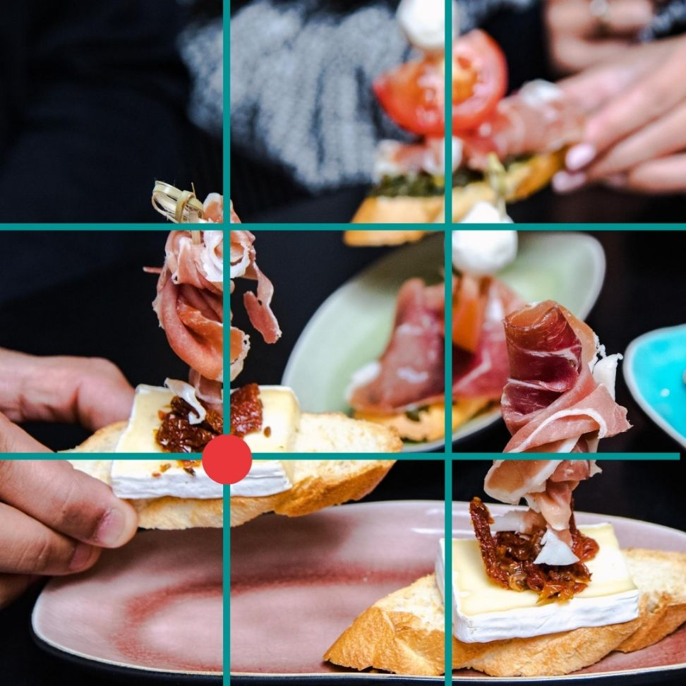 Food Photography Class - Grid example