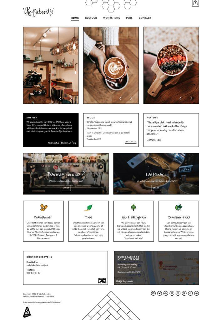 Coffee shop website design inspiration - 't koffieboontje