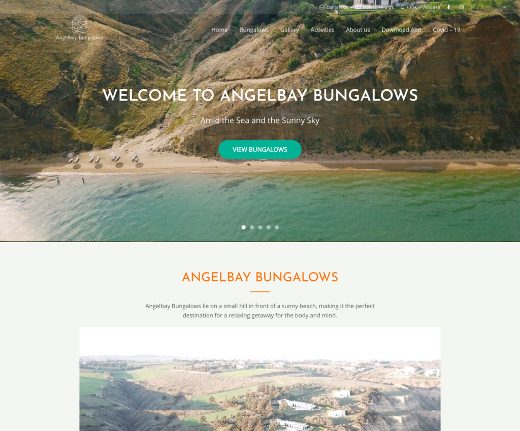 Angelbay Bungalows BnB Web Design