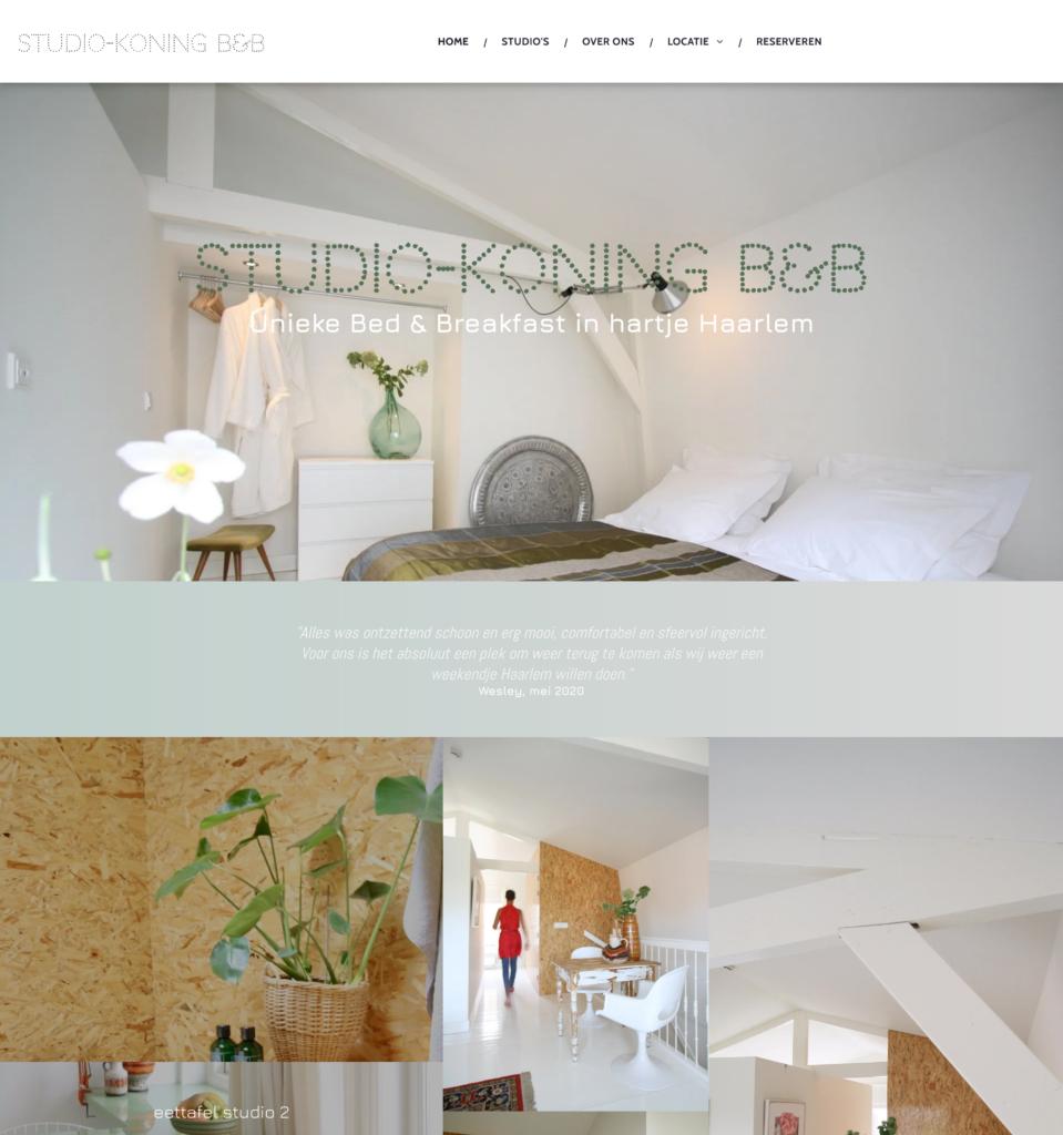 Studio Koning Airbnb web design