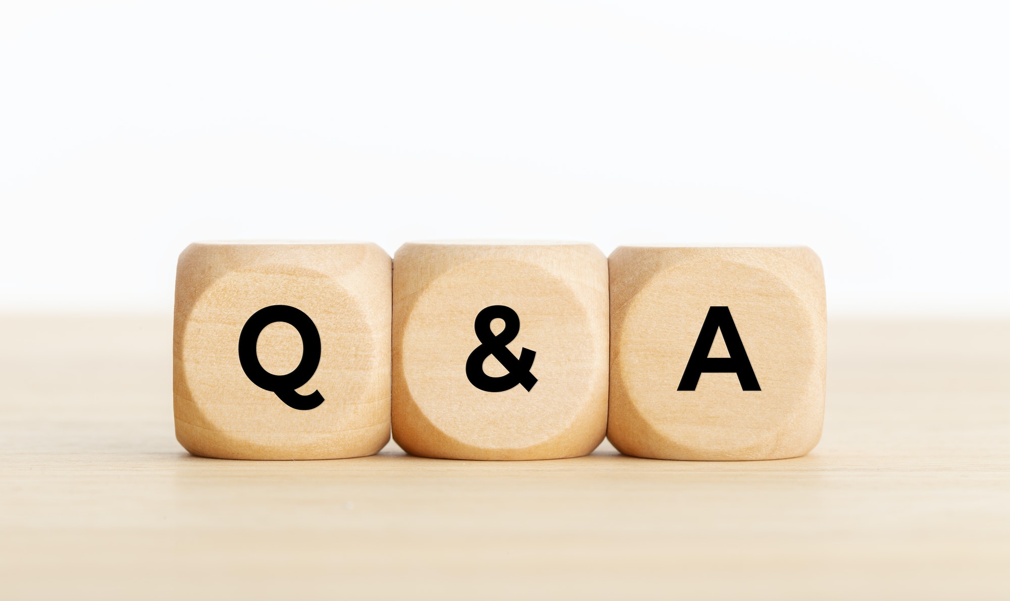 Q&A or questions and answers concept