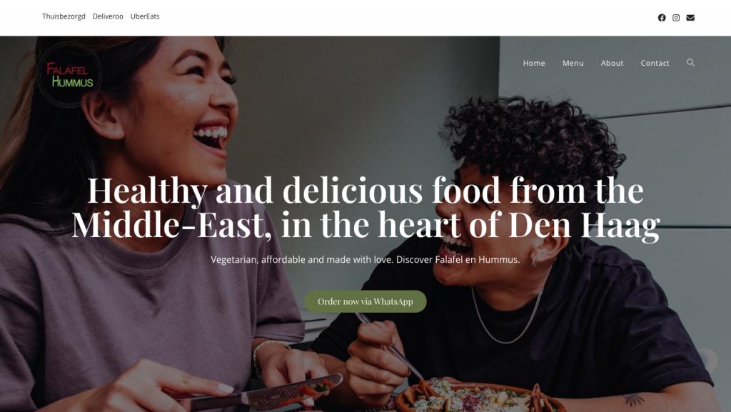 Restaurant Website Design - Falafel en hummus