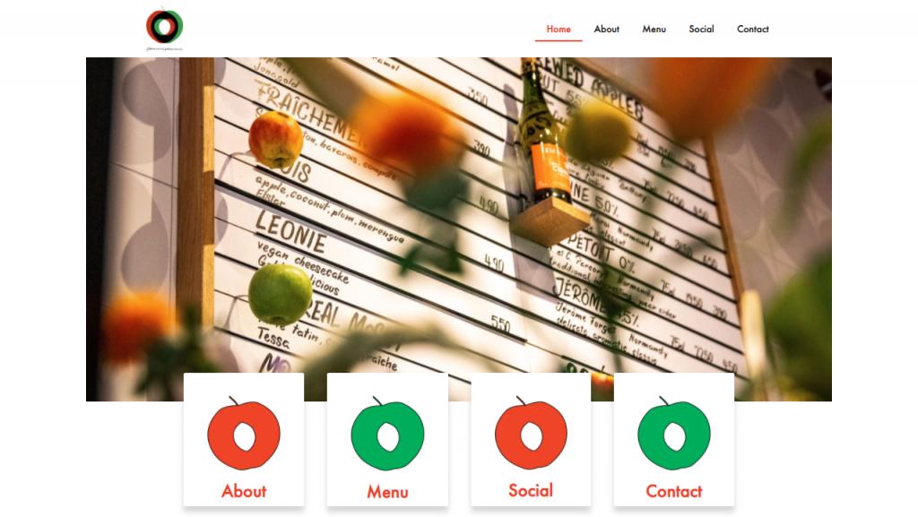 Restaurant Website Design - Pommepomme