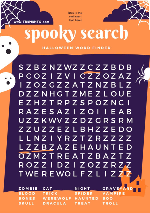 Halloween Word Search - Restaurant Halloween Ideas