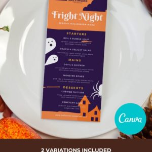 Halloween Restaurant Menu Template