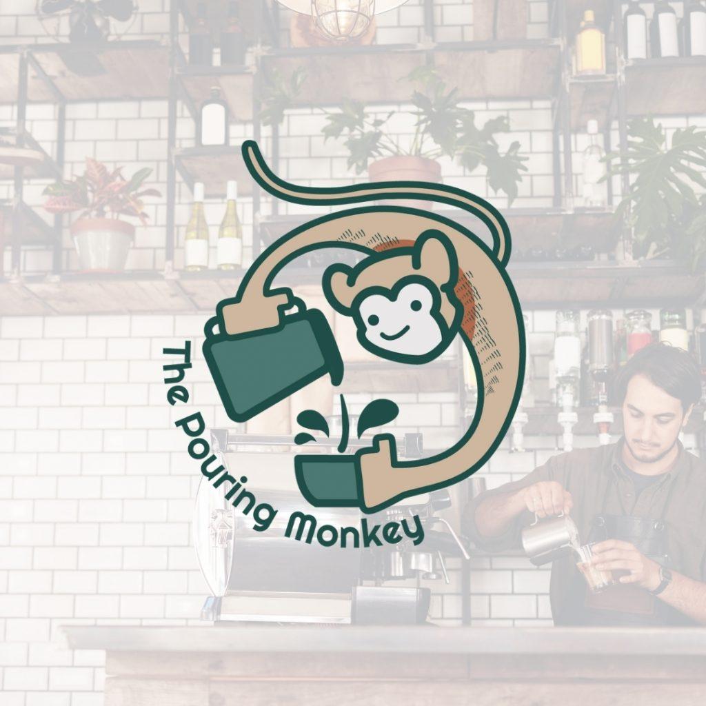 Coffee Shop Logo - Pouring Monkey