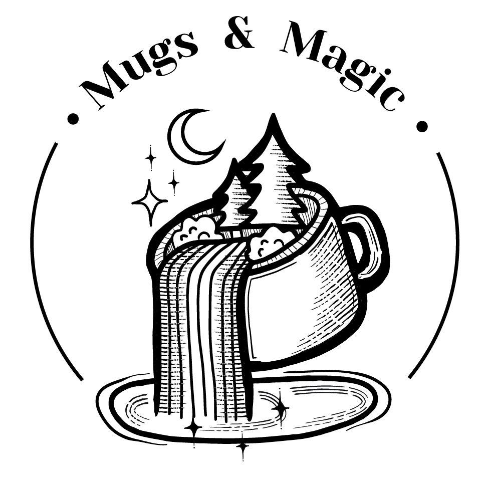 Mugs & Magic Coffee Shop Logo