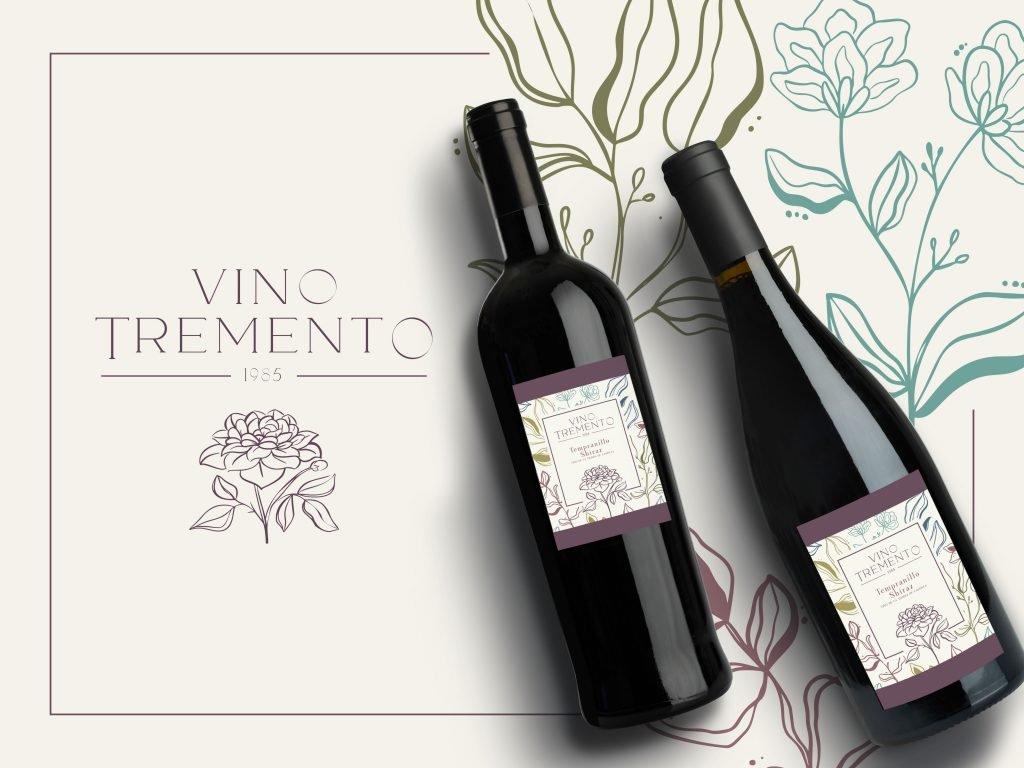 Tremento Wine Label design by Lawrence Daniel Taojo (from Tremento)