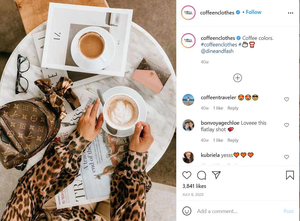 coffeenclothes coffee shop instagram
