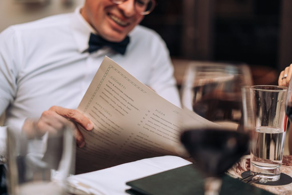 Write good menu descriptions to creative specific incentive with guests