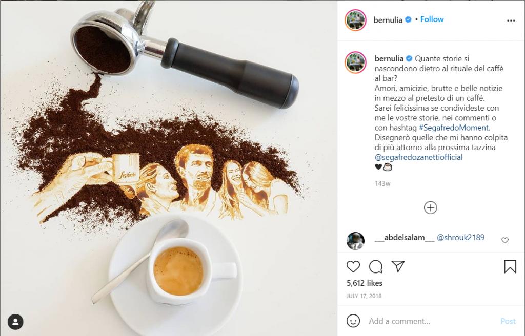 Giulia Bernardeli coffee shop instagram