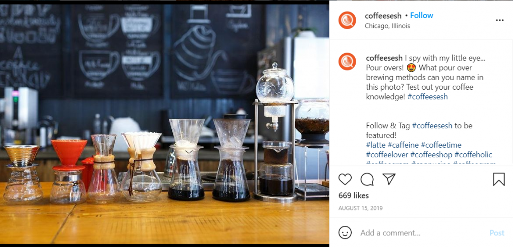 Coffee Sesh coffee shop instagram