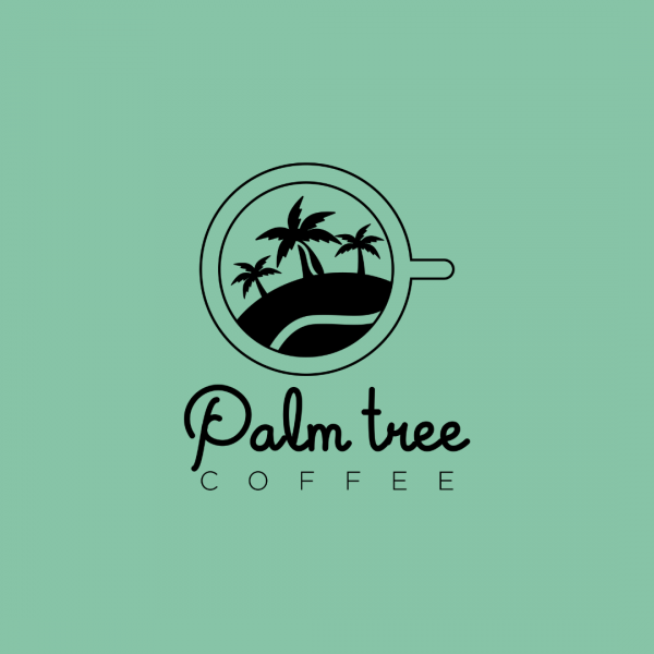 Creative Coffee Shop Logo - Palm Tree Coffee