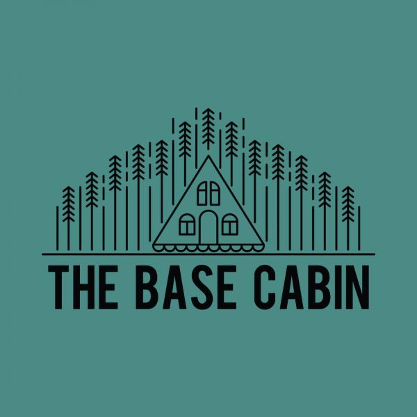 Inviting Wood Cabin Logo - The Base Cabin