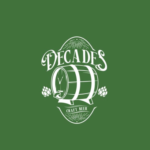Attractive Alcoholic Beverage Logo - Decades