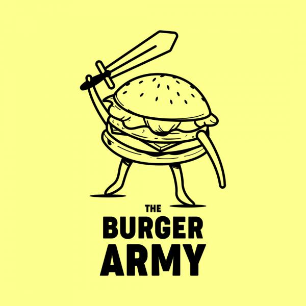 Cool Burger Shop Logo - The Burger Army