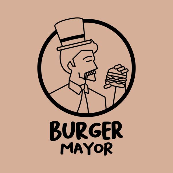 Minimal Burger Bar Logo - Burger Mayor