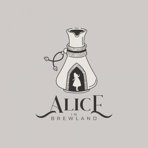 Magical Coffee Shop Logo - Alice in Brewland