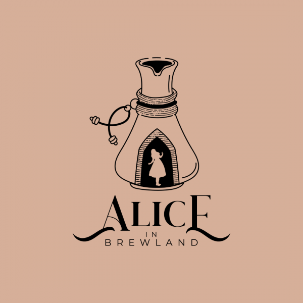 Magical Coffee Shop Logo -Alice in Brewland