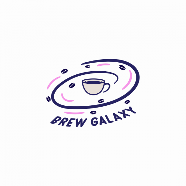 Coffee Shop Logo Brew Galaxy