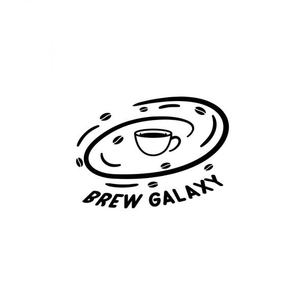 Coffee Shop Logo Brew Galaxy Black