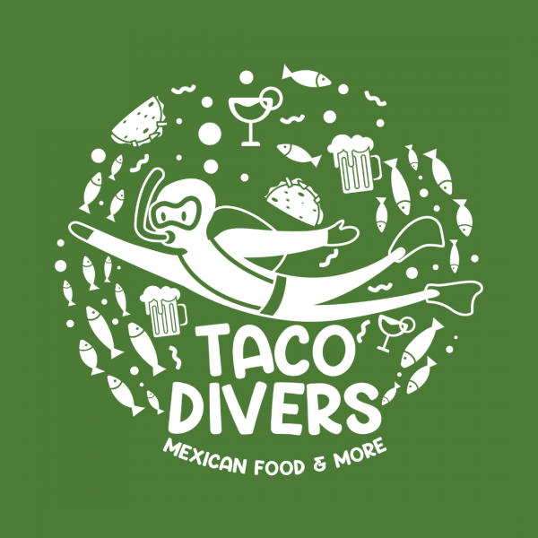 Taqueria Logo - Taco Divers