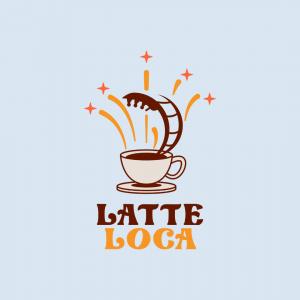 Cute Coffee Shop Logo - Latte Loca