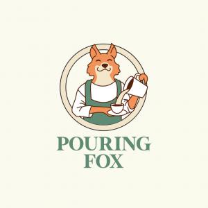 Fox Coffee Logo - Pouring Fox