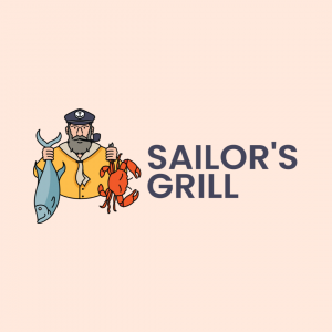 Sizzling Logo for Seafood Restaurant - Sailor's Grill