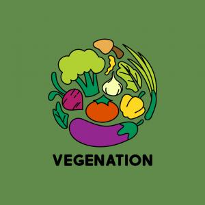 Vegetarian Restaurant Logo - Vegenation