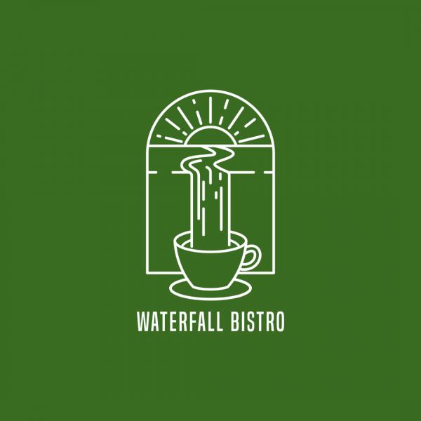 Nature Coffee Shop Logo - Waterfall Bistro