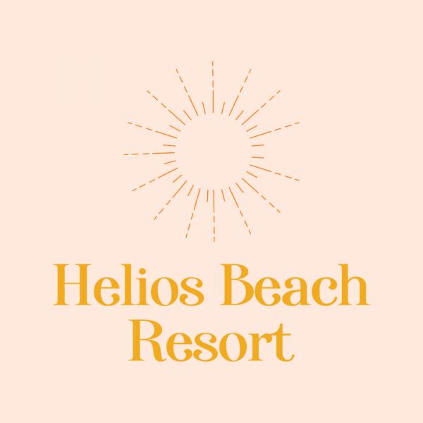 Minimalist Caribbean Beach Resort Logo - Helios Beach Resort