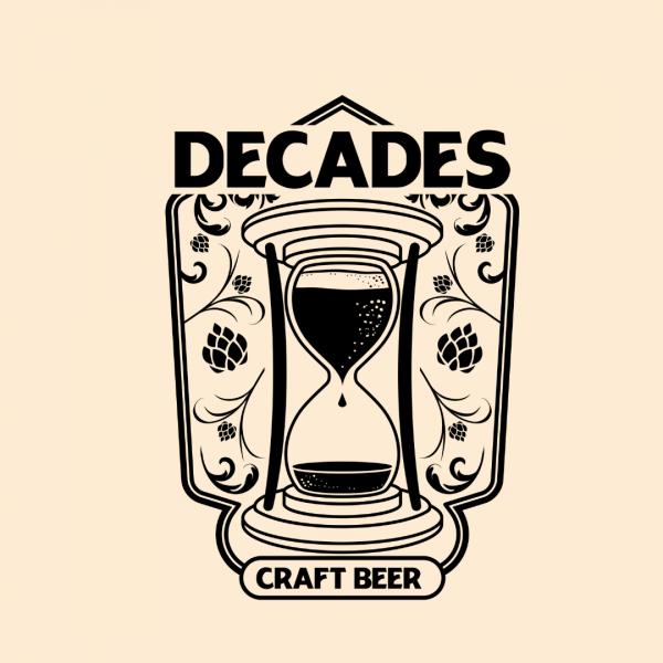 Creative Craft Beer Logo - Decades